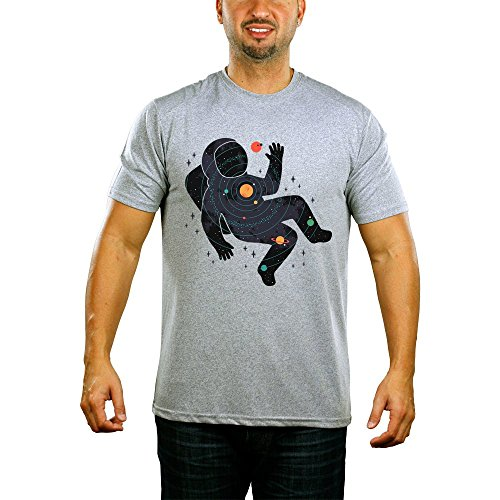 Astronaut In Solar System Mens T-shirt XX-Large