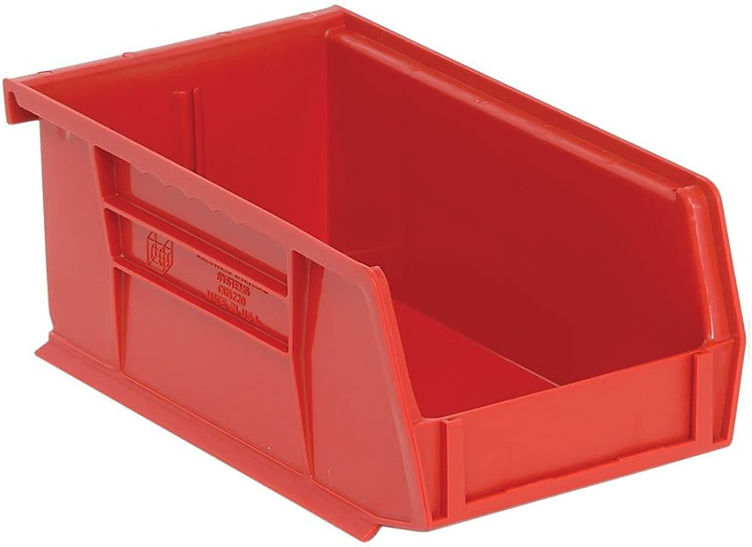 Quantum QUS220 Plastic Storage Stacking Ultra Bin, 7-Inch by 4-Inch by 3-Inch, Red, Case of 24