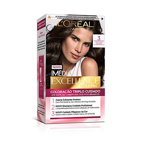 Coloração Imédia Excellence, L'Oréal Paris, Castanho Escuro, Coloração Imédia