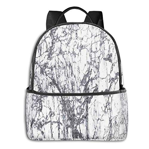 Schultasche doppelte Schwarze Rucksäcke, düstere Marmorfelsen-Motive mit dynamischen Fraktal-Figuren, Abstrakter Kunst-Druck, lässiger Wanderreise-Tagesrucksack 12 '5' 14,5 'LWH
