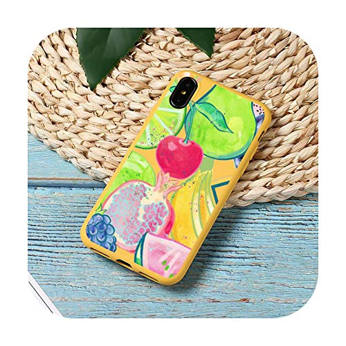 Caricatura de frutas limón moda lindo especial teléfono caso color caramelo para iPhone 11 12 mini pro XS MAX 8 7 6 6S Plus X SE 2020 XR-a8-iPhone12mini