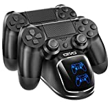 PS4 Controller Charger Dock Station, OIVO Controller Charging Dock with Upgraded 1.8Hours-Charging Chip, Charging Dock Station for Playstation 4 DualShock 4 Controller (Regular/Slim/Pro)