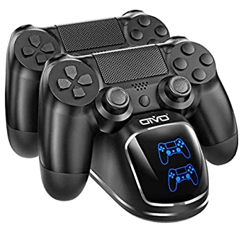 PS4 Controller Charger Dock Station OIVO Playstation 4 PS4 Controller Charging Dock Station Upgraded 1.8-Hours Charging Chip Charging Dock Station Replacement for PS4 Dualshock 4 Controller Charger