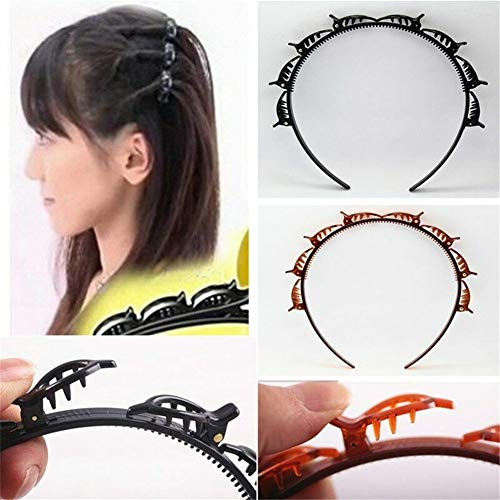 2Pcs Double Bangs Hairstyle Hairpin, Freeze Your Beauty Hair Band