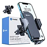 andobil Car Vent Phone Mount, [Bumpy Roads Friendly] Hands-Free Universal Air Vent Phone Holder for Car with Suction Cup Compatible with iPhone 12/12 Pro/11 Pro Max/8 Plus/X/XS Samsung Galaxy S21/S20