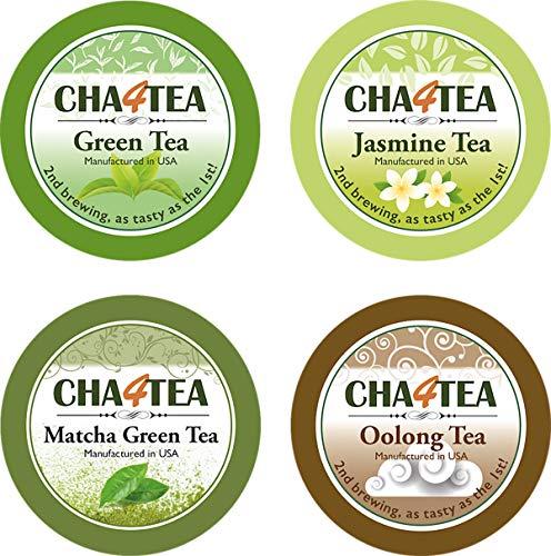 Cha4TEA 36-Count Assorted Green Tea for Keurig K-Cup Brewers (Matcha Green Tea, Green Tea, Jasmine Green Tea, Oolong Green Tea)