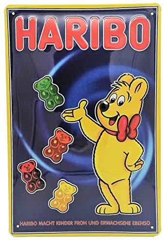 Retro Reklame Blechschild, Gummibären 80er Jahre vintage Werbung, lustiger Spruch, hochwertig geprägt 30 x 20 cm, Wandschild, Küschenschild, Türschild, Dekoration