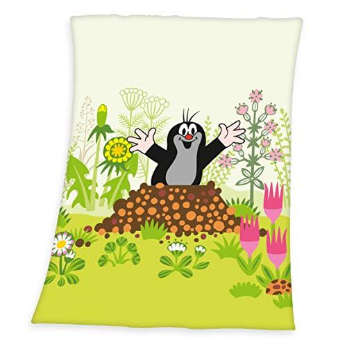 Herding Der kleine Maulwurf Soft-Peachdecke, Polyester, mehrfarbig, 75 x 100 cm
