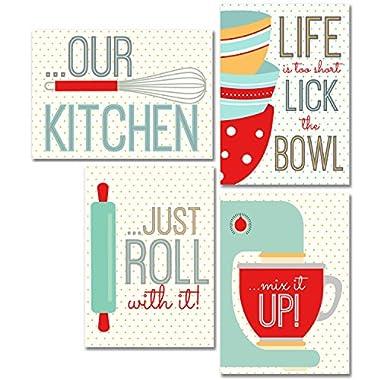 Kitchen Wall Art Prints - Set of Four 5x7 Unframed Glossy Photographs