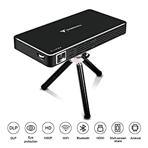 Proyector WiFi Mini,Flylinktech DLP Home Cinema HD Bluetooth 4 ...