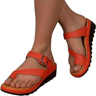 Sandalias Mujer Verano 2019 Plataformas EUZeo Sandals Correctoras Juanetes Moda Zapatos Tacon Cuña 3.5CM Casual