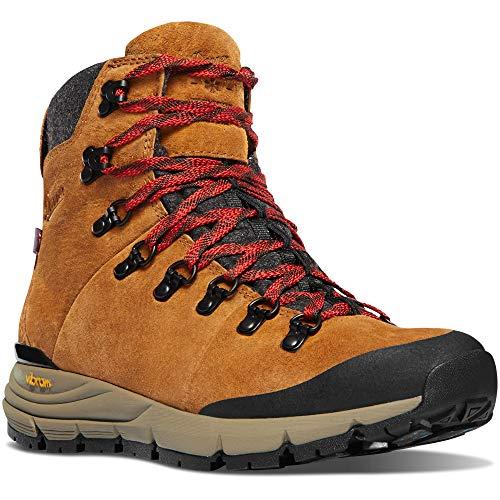 "Danner Women's 67332 Arctic 600 Side-Zip 5"" Waterproof 200G Hiking Boot, Brown/Red - 6.5 M"