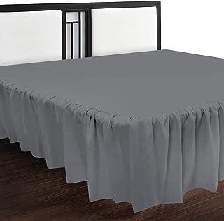 Utopia Bedding Queen Ruffle Bed Skirt,16 Inch Drop (Grey)