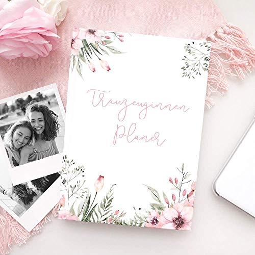 Trauzeuginnen-Planer (mit GRATIS Postkarte)   WILD FLOWERS   Trauzeugin Geschenk