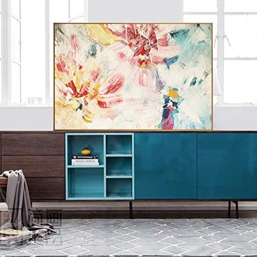 YuanMinglu Pintura sin Marco Arte Abstracto Flores Coloridas Cuadro Lienzo Pintura Sala de Estar Mural decoración Moderna para el hogar Cartel 30x45 cm