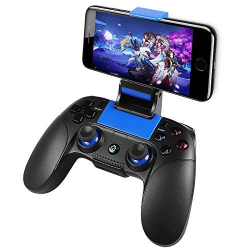 Game Controller Wireless, PowerLead Handy Controller für Android IOS, Tragbarer Joystick-Griff für Mobile Spiele, Wireless Gamepad Support Android/IOS