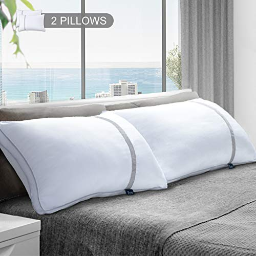 BedStory 2 Pack Sleeping Pillows, Hotel Pillow Down Alternative Dust Mite Resistant&Hypoallergenic Standard Bed Pillow for Neck/Shoulder Pain/Allergy Sufferers and Back Stomach/Side Sleeper (Standard)