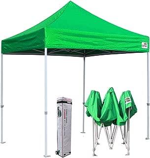 Eurmax 8x8 Feet Ez Pop up Canopy, Outdoor Canopies Instant Party Tent, Commercial Gazebo Bonus Roller Bag (Kelly Green)