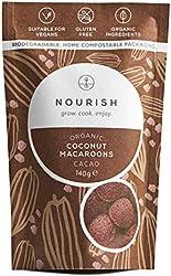Nourish - grow, cook, enjoy Organic Cacao Coconut Macaroons, Vegan, Gluten Free, Dairy Free, Keto Sn