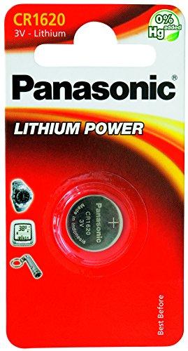 Oferta de Panasonic CR1620 Pila botón de litio no-recargable, 3V, 75 mAh, Paquete de 1 unidad