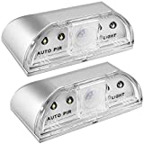 Senhai 2 Pack Luces de Cerradura, PIR Infrared IR Iluminación Nocturna Lámpara sin Hilos de Cerradura de Puerta, Detector de Movimiento Auto del Sensor, 4 Bulbos del LED