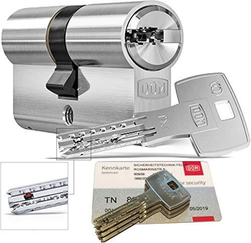 DOM iX Twido 333iX7T Doppelzylinder mit 3 Schlüssel, Länge (a/b) 30/30mm (c= 60mm), mit Sicherungskarte, mit Not- u. Gefahrenfunktion