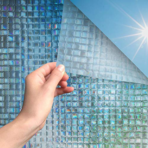 MARAPON® Fensterfolie mit Mosaikmuster [45x200 cm] inkl. eBook mit Profitipps - Statische Haftung & Blickdicht - Fensterfolie Sichtschutz - Fensterfolie selbsthaftend Blickdicht