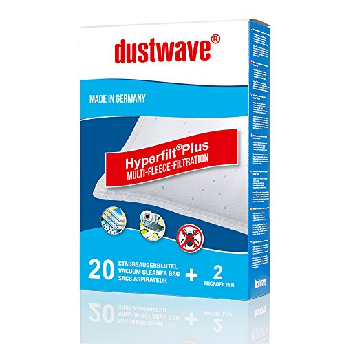 20 dustwave® Staubsaugerbeutel für Adix MI 105, Adix MI 170, Aldi MI 150, Hoover Greenray TGP, Hoover H 30S, Hoover H 60, Hoover Micro Space SCT 31, Hoover Purepower TP, Lidl MIE 500, Wolf 0500…