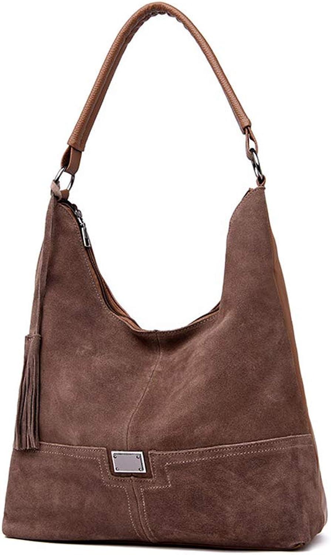 KUNZITE Women Nubuck Leather Handbag Luxury Tote Sling Bag for Ladies and Girls