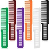 6 Pieces Hair Cutting Comb Professional Styling Comb Barber Styling Hair Comb Clipper Cutting Comb for Stylists and Barbers (Green, Purple, Orange, Red, White, Black)