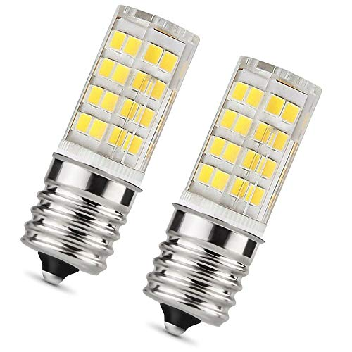 MAMA Base T7 E17 LED Bulb for Microwave Oven, Freezer, Under-Microwave Stove Light 35W-Equival, Pack of 2 (Daylight White)