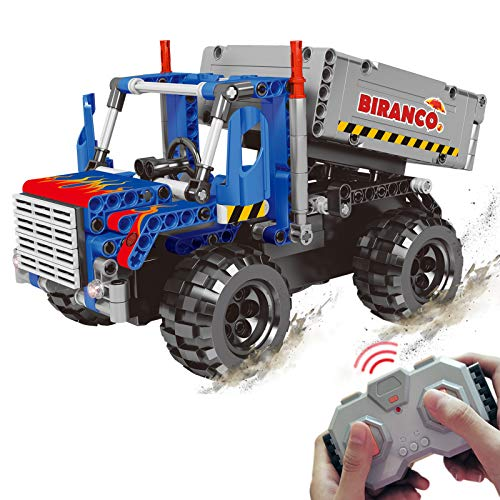 STEM Learning Kit | Truck Construction Toys with Remote Control, Cool Educational Engineering Building Set for Boys and Girls Ages 6 7 8 9 10-12 Year Old and up, Best Toy Gift for Kids, Activity Game