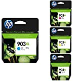 HP 903XL T6M03AE Cartuccia Originale per Stampanti a Getto di Inchiostro, Compatibile con OfficeJet 6950, OfficeJet Pro 6960 e 6970, Pacco din 4