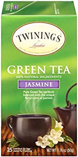 Twinings of London Jasmine Green Tea Bags, 25 Count (Pack of 1)