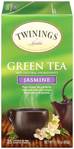 Twinings of London Jasmine Green Tea Bags 25 Count Pack of 1