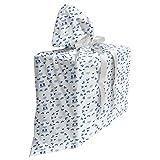 ABAKUHAUS Garderie Sac Cadeau pour Fête Prénatale, Rubans Ours en Peluche, Pochette en Tissu Réutilisable de Fête avec 3 Rubans, 70 x 80 cm, Violet Gris Bleu Marine