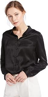 Best black silk blouse womens Reviews