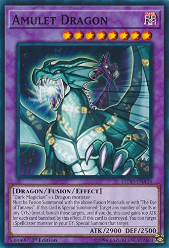 Yugioh 1st Ed Amulet Dragon LEDD-ENA35 Common 1st Edition Legendary Dragon Decks
