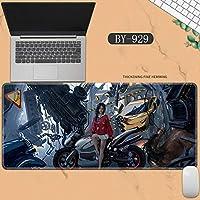 素敵なマウスパッド特大アイスプリンセスゴーストナイフ風チャイムプリンセスアニメーション肥厚ロック男性と女性のキーボードパッドノートブックオフィスコンピュータのデスクマット、Size :400 * 900 * 3ミリメートル-BY-929