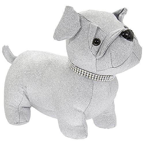 Topes de puerta con diseño de animales, perro, liebre y plata con...