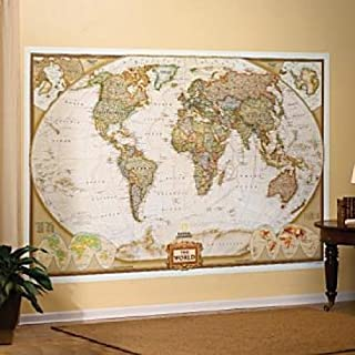 National Geographic Executive World Map Wall Mural Children, Kids, Game