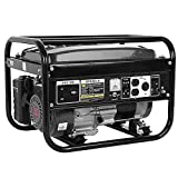 Portable Generator, (US Delivery) 4000 Peak Watts 120 Volts Gasoline Powered - for Backup Home Use Camping & RV Ready-Big Power Gas Outdoor Generator, Operate for Up To 10-Hours (Black-60x43x44cm)