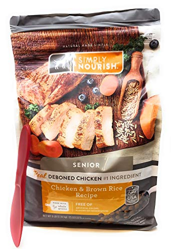 SIMPLY NOURISH Senior Adult Dry Dog Food - Chicken & Brown Rice, 5 pounds and Especiales Cosas Spatula