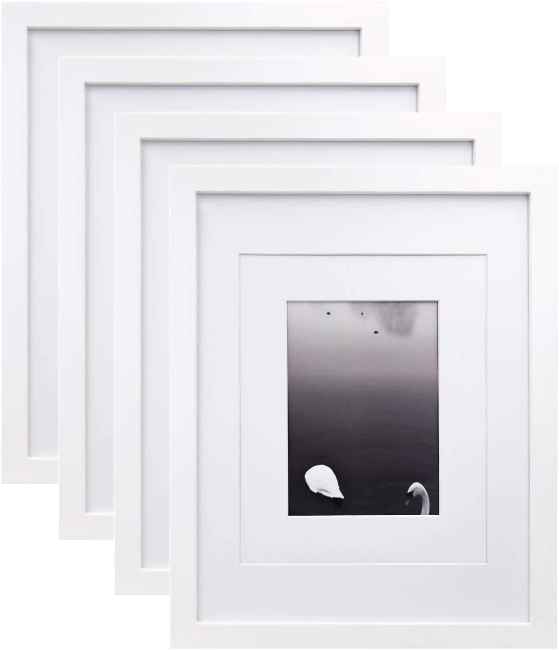 Engagement Picture Frame Classic White and Silver Wedding Picture Frame 11x14 Portrait Photo Frame