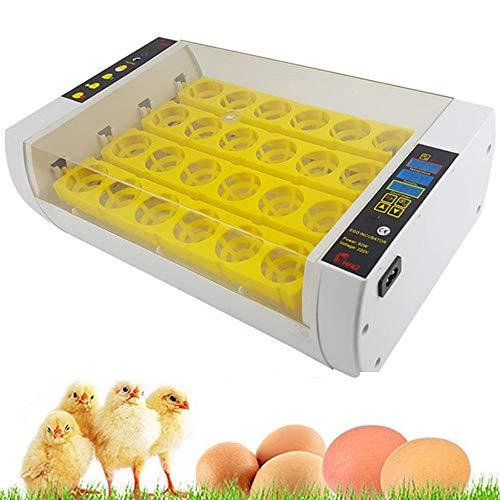 WHR-HARP Brutmaschine, Brutapparat 24 Automatische Eier Digitale Brutapparate Mit Einheitlicher Intelligenter Automatischer Mini-Heizung Heizung für Eier Geflügel-Entenhennen 45 * 17 * 29cm