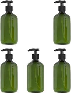 Beaupretty Flacone Pompa Shampoo 5 Pezzi 300 Ml Flaconi Ambra in Plastica Dispenser per Lozione Pompa Flacone Vuoto con Ta...