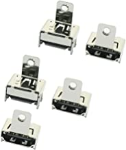 uxcell 5PCS HDMI DIP Type A 19pin Female PCB 180 Degree Jack Connector