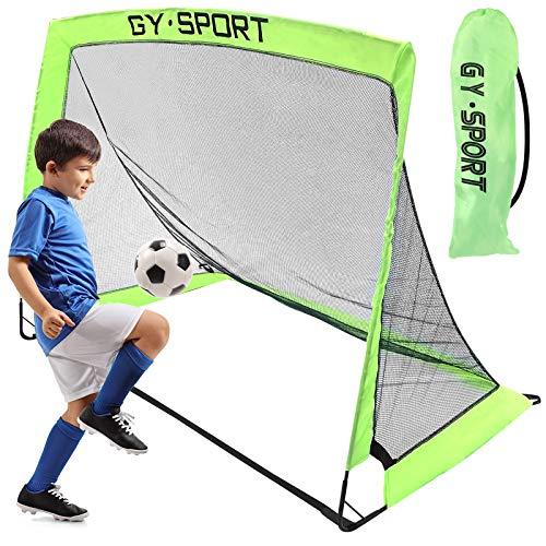 Yodeace Porteria Futbol Niños, Portátil Porteria Futbol Niños Fácil de Montar Plegable, para Niños Adultos Práctica de Fútbol Patio Trasero para Interiores Y Exteriores(120 x 70 x 90cm)