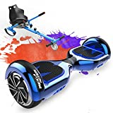 MEGA MOTION Hoverboard Kart, Overboard 6,5 Pouces Équipé de Haut-Parleur Bluetooth et Lumières...