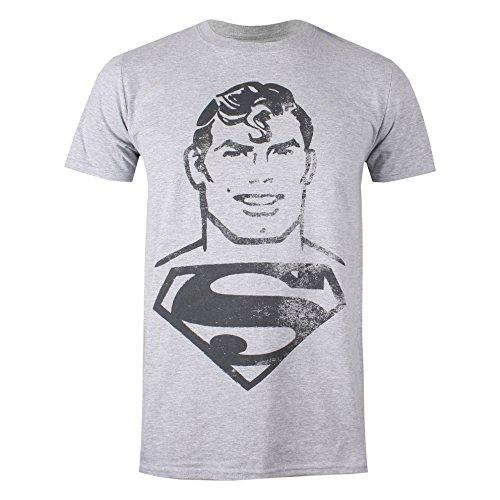 DC Comics Superman Acid Wash Camiseta,...